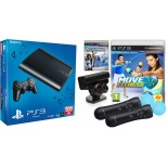 Sony Playstation 3 Slim 500 GB + Move fitness + Sport Champion + 2Move controller + Camera
